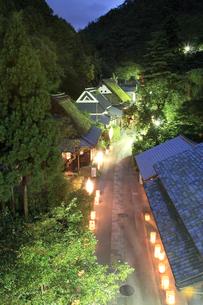 愛宕古道街道灯しの写真素材 [FYI02928095]