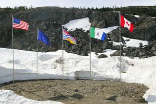 アメリカとカナダの国境の写真素材 [FYI02928126]