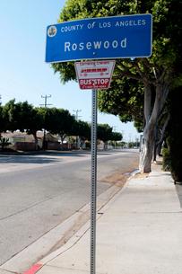 ローズウッドの道標の写真素材 [FYI02928191]