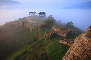 霧の竹田城跡の写真素材 [FYI02928478]
