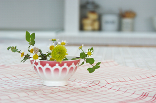 テーブルの上の花の写真素材 [FYI02928692]