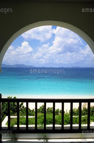 テラスからの美しい眺めの写真素材 [FYI02929544]
