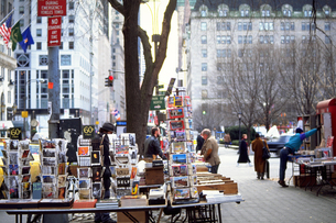 ニューヨークの街角の写真素材 [FYI02929618]
