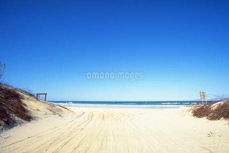 砂浜から海への写真素材 [FYI02929644]
