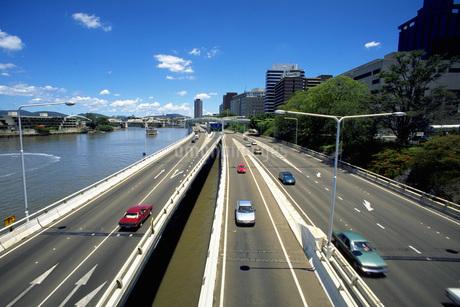 オーストラリアの道の写真素材 [FYI02929653]