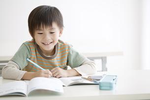 勉強をする男の子の写真素材 [FYI02931627]