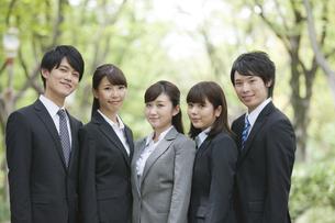 ビジネスマンとビジネスウーマンのポートレート5人の写真素材 [FYI02931990]