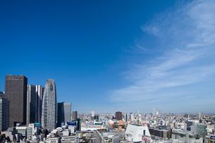 新宿駅西口駅前の高層ビル群の写真素材 [FYI02933572]