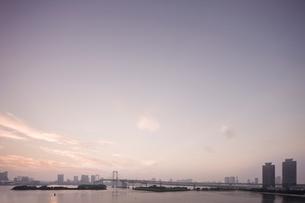 夕暮れの東京湾の写真素材 [FYI02933639]
