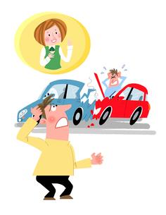自動車保険のイラスト素材 [FYI02935643]
