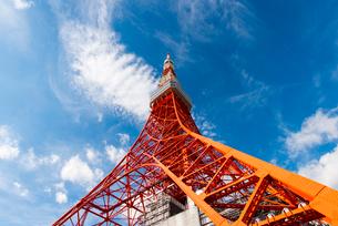 東京タワーを見上げるの写真素材 [FYI02935663]