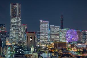 横浜みなとみらい夜景の写真素材 [FYI02935672]