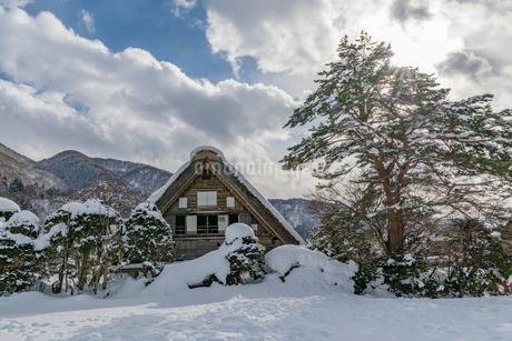 白川郷和田家の雪景色の写真素材 [FYI02935675]