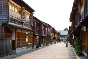 金沢のひがし茶屋街の写真素材 [FYI02935748]