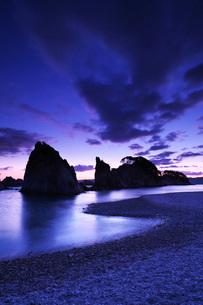 浄土ヶ浜の朝の写真素材 [FYI02935992]