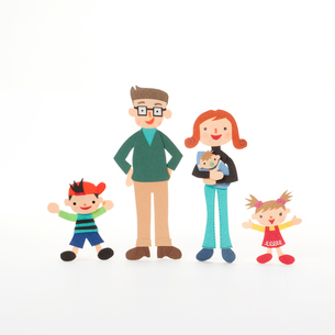 家族のクラフトの写真素材 [FYI02936423]