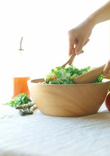 有機野菜を使ったサラダの写真素材 [FYI02937786]