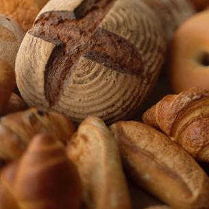 カンパーニュとパンの集合の写真素材 [FYI02939071]