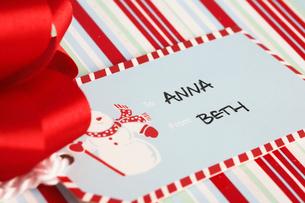Christmas present tagの写真素材 [FYI02940433]