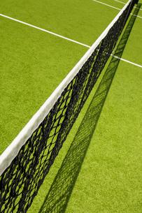 High angle view of tennis netの写真素材 [FYI02941084]