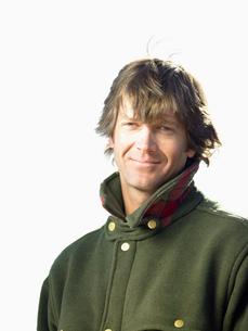 Mid adult man in warm jacketの写真素材 [FYI02941629]