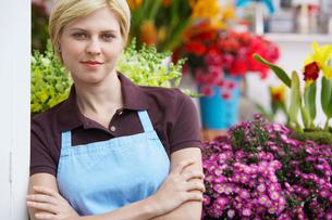 Portrait of female floristの写真素材 [FYI02941917]