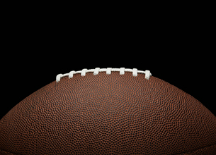 Close-up of American Footballの写真素材 [FYI02942105]