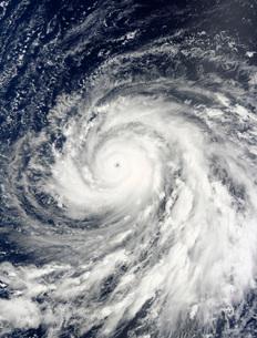 Super Typhoon Choi-wan over the Mariana Islands.の写真素材 [FYI02942242]