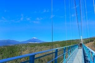 三島スカイウオークと富士山の写真素材 [FYI02942303]