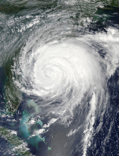 Hurricane Irene off the United States east coast.の写真素材 [FYI02942494]