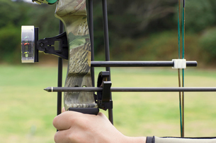 Close-up of bow and arrowの写真素材 [FYI02943805]