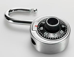 Open Padlock with Dialの写真素材 [FYI02943982]