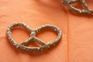 Salted pretzelの写真素材 [FYI02944133]