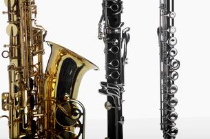 Saxophone, clarinet and fluteの写真素材 [FYI02944156]