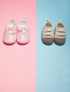 Two Pairs of Baby Shoesの写真素材 [FYI02944569]