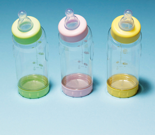 Three Baby Bottlesの写真素材 [FYI02944715]