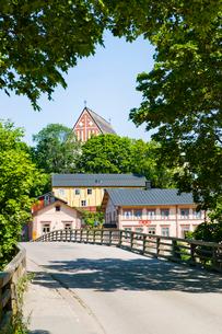 Finland, Nyland, Porvoo, Borga, Bridgeの写真素材 [FYI02944976]