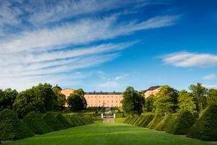 Sweden, Uppland, Uppsala, Hedges in Linnean Gardens of Uppsalaの写真素材 [FYI02945183]