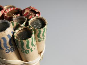 US Coin Rollsの写真素材 [FYI02945641]