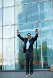 Businessman Cheeringの写真素材 [FYI02945867]