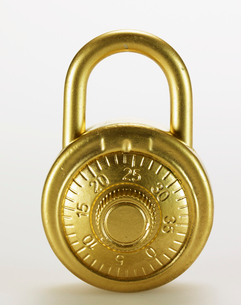 Golden Padlock with Dialの写真素材 [FYI02945962]