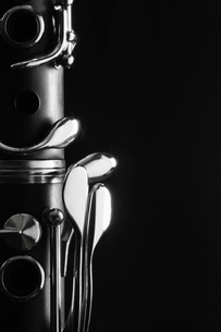 Close-up of clarinetの写真素材 [FYI02945965]
