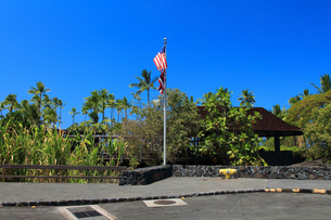 ハワイ島プウホヌア・オ・ホナウナウ国立歴史公園ビジターセンターの写真素材 [FYI02946213]
