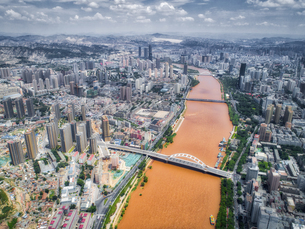 aerial photography of Lanzhou cityの写真素材 [FYI02946242]