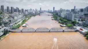 aerial photography of Lanzhou cityの写真素材 [FYI02946284]