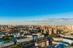 Overlooking of the city Daqing Chinaの写真素材 [FYI02946300]
