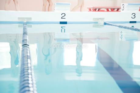 プールサイドを歩く女性たちの足元の写真素材 [FYI02946943]