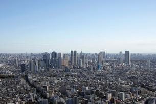 新宿副都心ビル群の空撮の写真素材 [FYI02947086]
