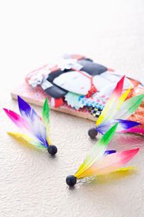正月の羽子板と羽の写真素材 [FYI02947183]