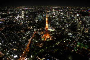 東京タワーの空撮の写真素材 [FYI02948022]